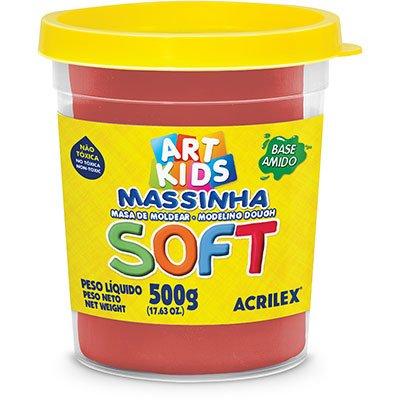Massa p/modelar 500g soft vermelha 103 Acrilex PO 1 UN