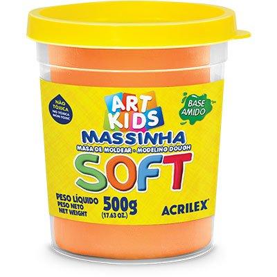 Massa p/modelar 500g soft laranja 105 Acrilex PO 1 UN