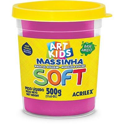 Massa p/modelar 500g soft maravilha 107 Acrilex PO 1 UN