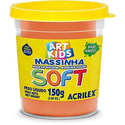 Massa p/modelar 150g soft laranja 105 Acrilex PO 1 UN