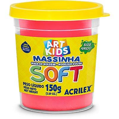 Massa p/modelar 150g soft vermelho 103 Acrilex PO 1 UN