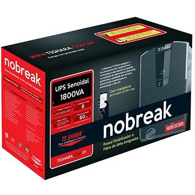 Nobreak Ups Senoidal 1800va 2BS/2BA 8t biv 7a/45a 4439 Ts Shara CX 1 UN