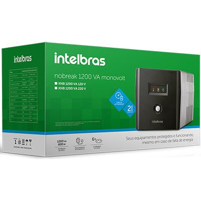 Nobreak XNB 1200va 6 tomadas 120v 4822006 Intelbras CX 1 UN