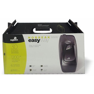 Nobreak Easy Way 1200va 6 tomadas bivolt 4137 Ragtech CX 1 UN