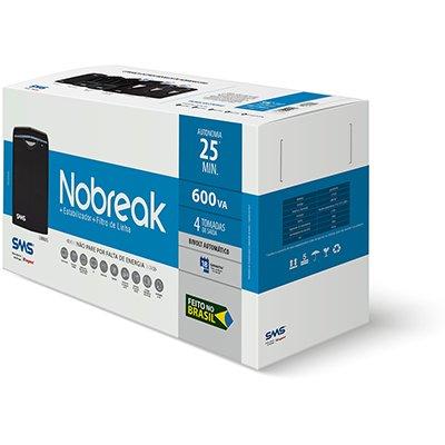 Nobreak Linus 600va 4 tomadas bivolt 27453 SMS CX 1 UN