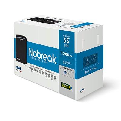 Nobreak Linus 1200va 6 tomadas bivolt 27456 SMS CX 1 UN