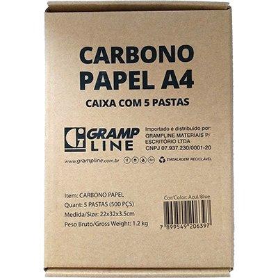 Papel carbono azul A4 GE-927 Gramp Line PT 100 FL