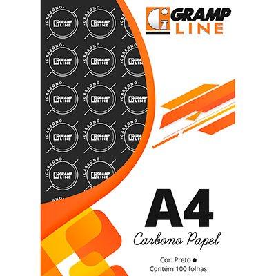 Papel carbono preto A4 GE-927 Gramp Line PT 100 FL