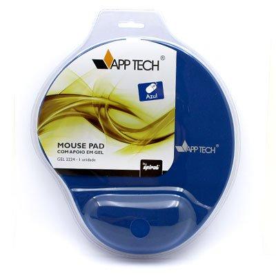 Mouse pad c/ apoio de punho em gel azul App-tech PT 1 UN