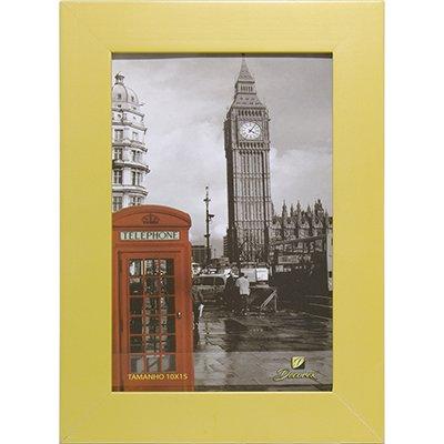 Porta retrato 10x15 liso amarelo PRL1015 Decorex PT 1 UN