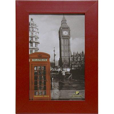 Porta retrato 10x15 liso vermelho PRL1015 Decorex PT 1 UN
