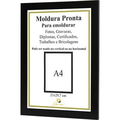 Moldura A4 para certificado preto - PRL2030  - Decorex PT 1 UN