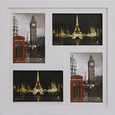 Porta retrato 10x15 p/4 fotos branco PN4 Decorex PT 1 UN