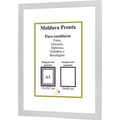 Porta certificado moldura 30x40 branco PRL3040 Decorex CX 1 UN