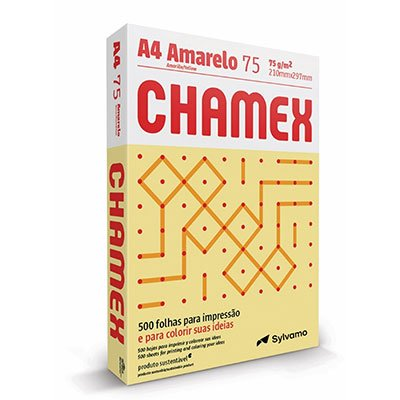Papel sulfite Chamex Amarelo A4 75g 210mmx297mm Ipaper PT 500 FL