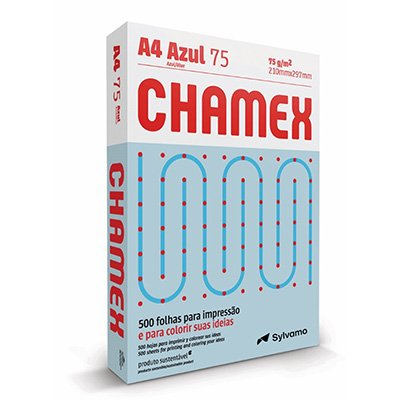Papel sulfite Chamex Azul A4 75g 210mmx297mm Ipaper PT 500 FL