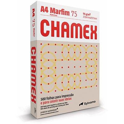 Papel sulfite Marfim A4 75g 210mmx297mm Chamex PT 500 FL