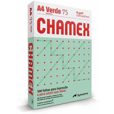 Papel sulfite Chamex Verde A4 75g 210mmx297mm Ipaper PT 500 FL