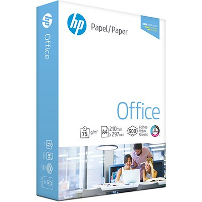 Papel sulfite HP Office A4 75g 210mmx297mm Ipaper PT 500 FL