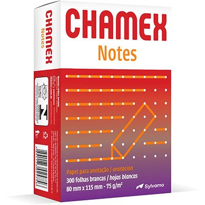 Bloco anotação s/pauta Chamex Notes 75g 80mmx115mm Ipaper PT 300 FL