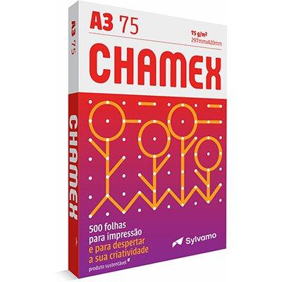 Papel sulfite A3 75g  297mmx420mm Chamex PT 500 FL