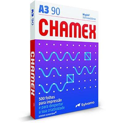 Papel sulfite Chamex A3 90g 297x420mm Ipaper PT 500 FL