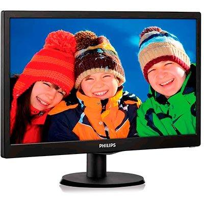 "Monitor LED 18,5"" widescreen 193V5LSB2 Philips CX 1 UN"