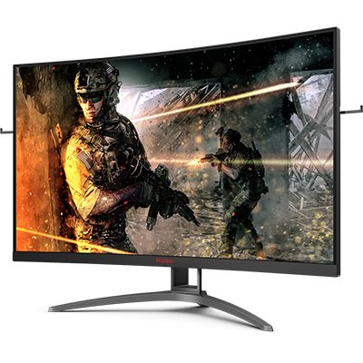 "Monitor Gamer LED 31,5"" widescreen curvo 1ms 165hz Agon AG323FCXE Aoc CX 1 UN"