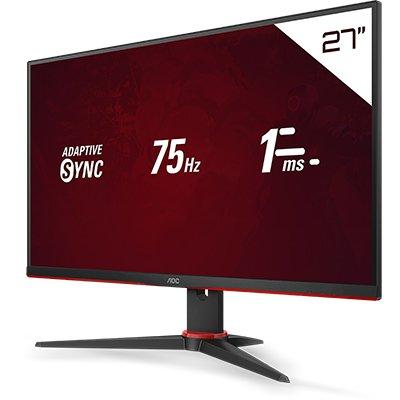 """Monitor Gamer Sniper 27G2HE5 LED 27"""", Tela Full HD IPS, 1ms de Tempo de Resposta, Taxa de Atualização de 75hz, Conexões HDMI e VGA - AOC CX 1 UN"""