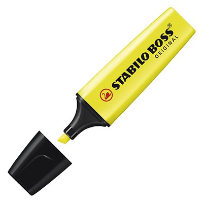 Pincel marca texto amarelo Boss 70/24 Stabilo UN 1 UN
