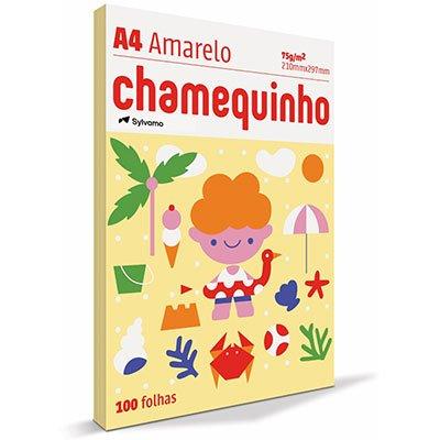 Papel sulfite Chamequinho Amarelo A4 75g 210mmx297mm Ipaper PT 100 FL