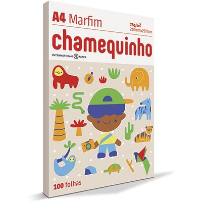 Papel sulfite Chamequinho Marfim A4 75g 210mmx297mm Ipaper PT 100 FL