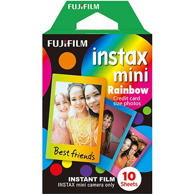Papel fotográfico Fuji Instax Mini  6,2x4,6cm Rainbow Fuji Film PT 10 UN