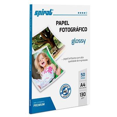 Papel fotográfico A4 130g glossy paper G130-50 Spiral PT 50 FL