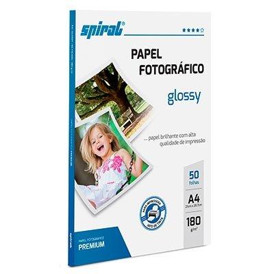 Papel fotográfico A4 180g glossy paper G180-50 Spiral PT 50 FL
