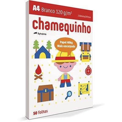 Papel sulfite Chamequinho Branco A4 120g 210mmx297mm Ipaper PT 50 FL