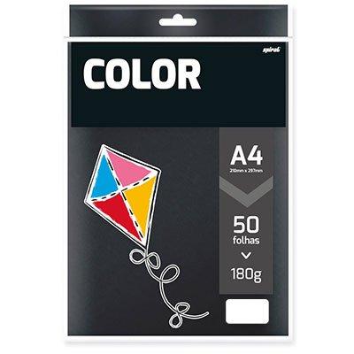 Papel 180g 210x297 color plus preto Spiral PT 50 FL