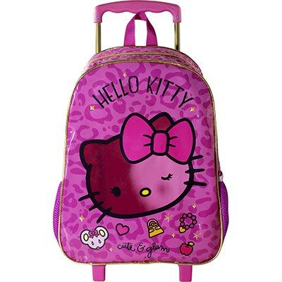 "Mochila poli. c/ rodas 16"" Hello Kitty Glam 8820 Xeryus PT 1 UN"