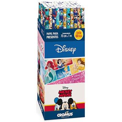 Papel para presente em rolo 70x100cm Disney 12000041 Cromus PT 1 UN