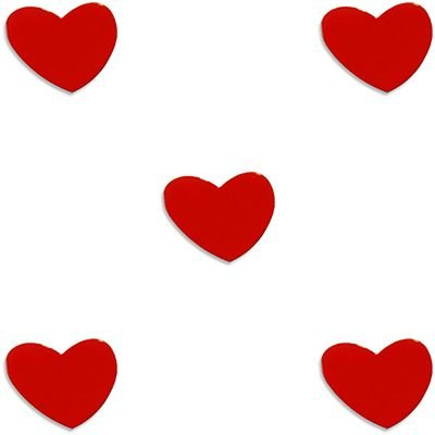 Imã fixador de lembretes coração Geguton BT 5 UN