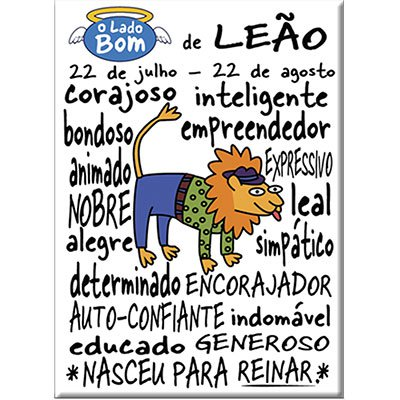 Imã signo Leão bom Imãs do Brasil BT 1 UN