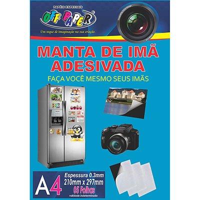 Imã adesivado A4 (manta magnética 210x297x0,3mm) Off Paper PT 5 UN