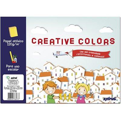 Bloco Creative Colors 120g 325x235mm c/8 cores Spiral PT 32 FL