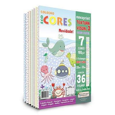 Bloco Ecocores Tex3 180g 320x230mm c/7cores 3 estampas Moopel PT 1 FL