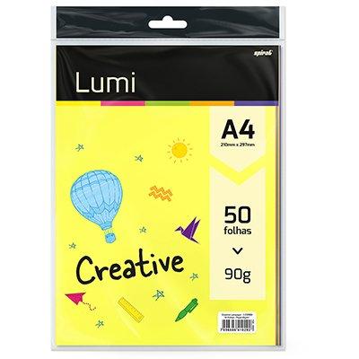Creative Lumipaper 90g A4  c/5 cores Spiral Lumi PT 50 FL