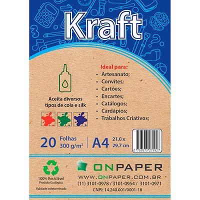 Papel Kraft A4 300g 421-9 On Paper PT 20 FL