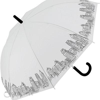 Guarda chuva longo transparente gotas sortidas 14466 Yazi PT 1 UN
