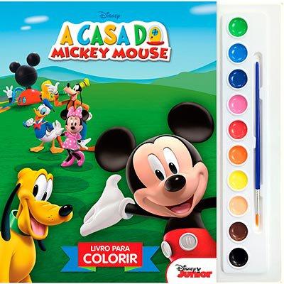 Livro para colorir infantil Disney aquarela Mickey Mouse Dcl PT 1 UN