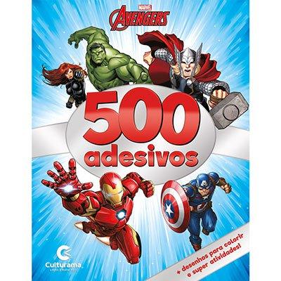 Livro para colorir infantil c/ 500 adesivos Vingadores 270002 Culturama PT 1 UN