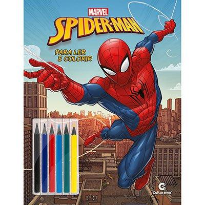 Livro para colorir infantil Homem Aranha 250034 Culturama PT 1 UN